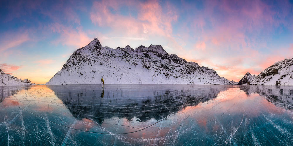 Photographing on the ice