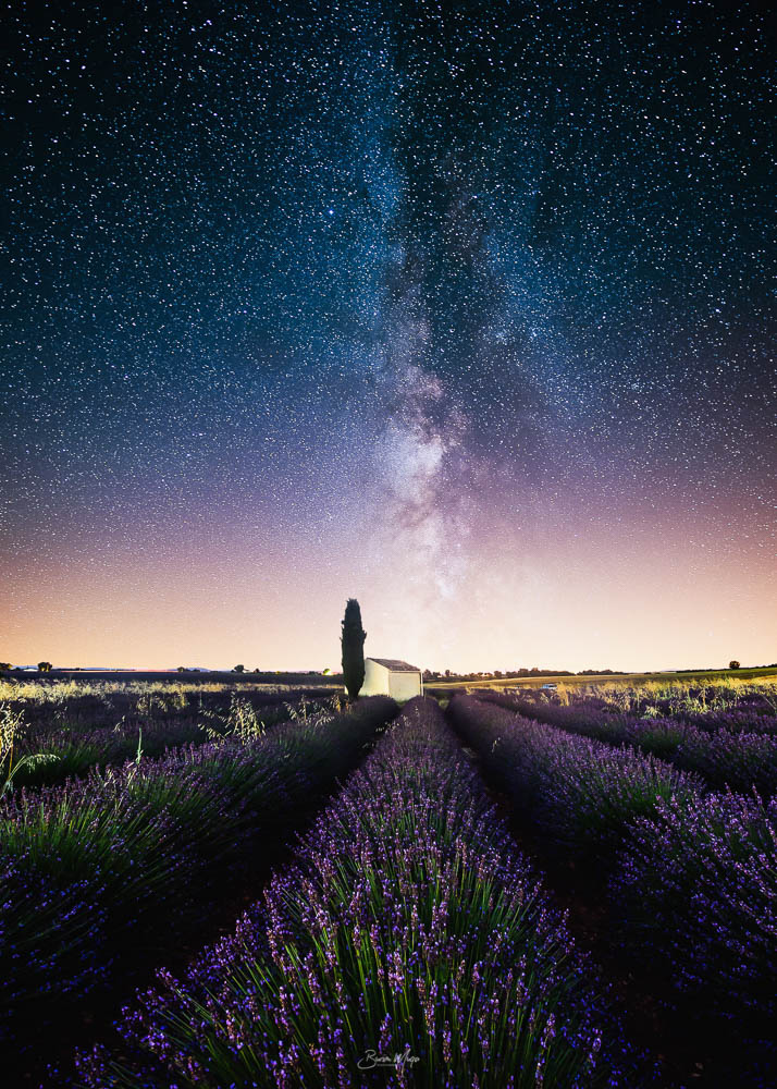 Milky way and the small house